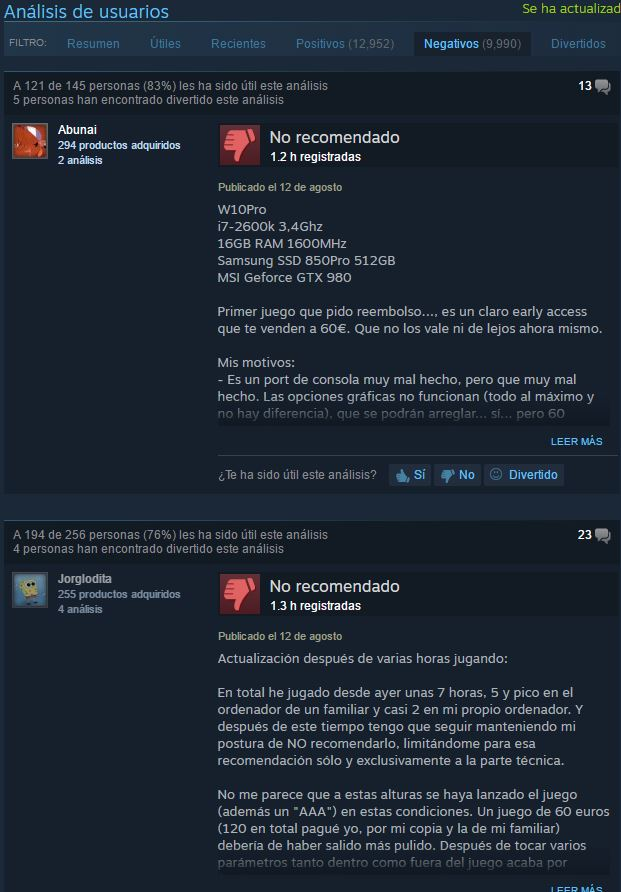 No Man's Sky criticas Steam