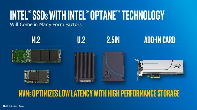 SSDs Intel Optane
