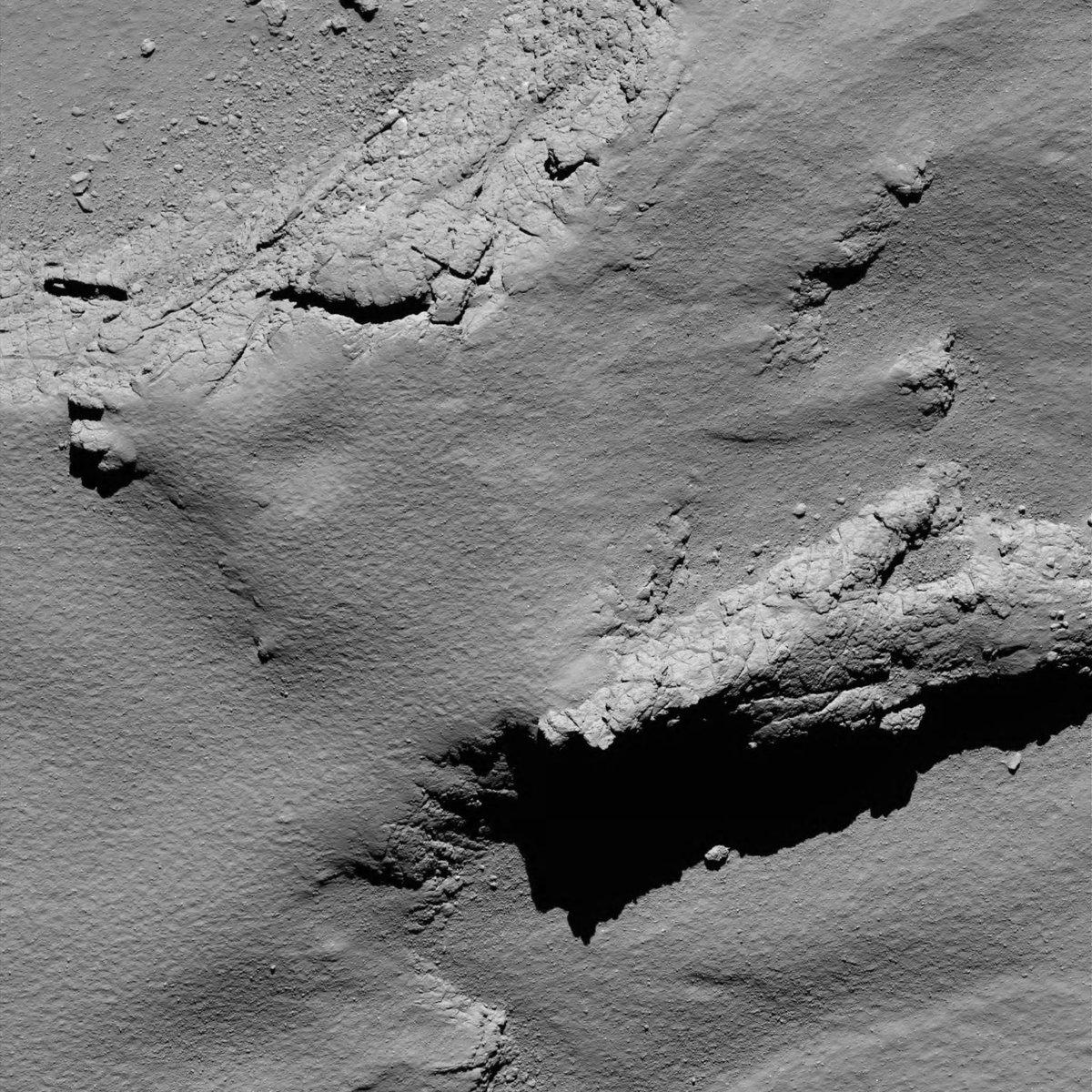 Última fotografía del cometa antes de tocar su superficie.