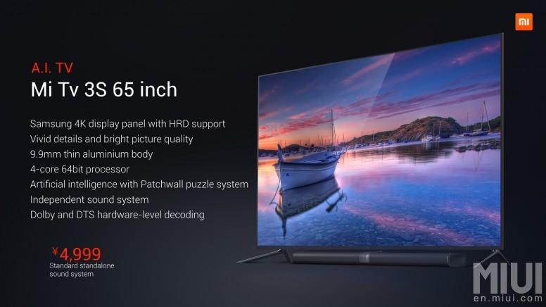 Xiaomi Mi TV 3S 1. 1