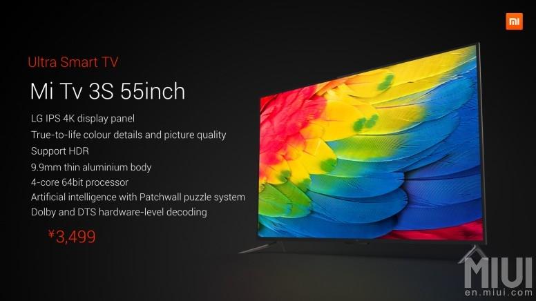 Xiaomi Mi TV 3S 2. 0