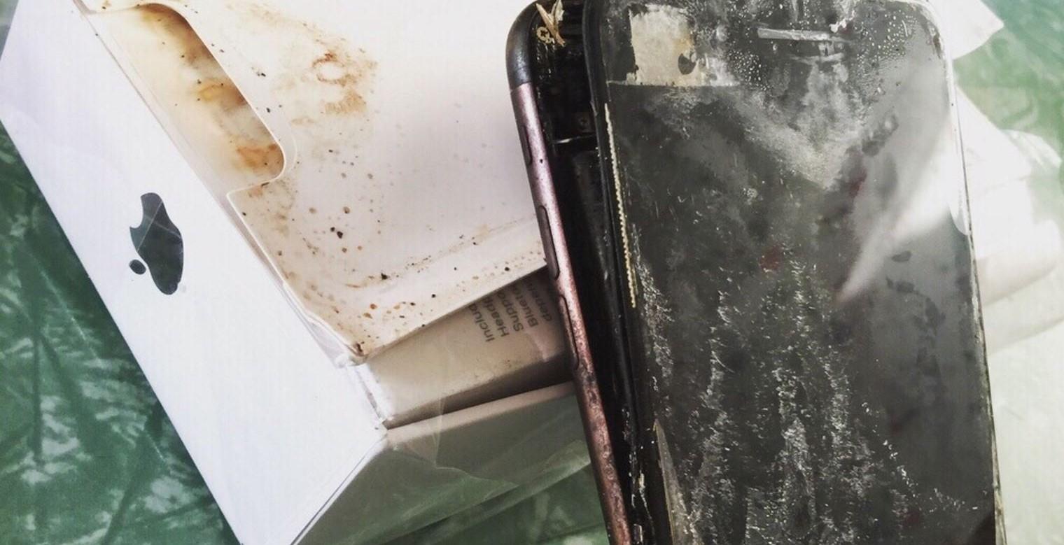 Un iPhone 7 explota antes de salir de su embalaje