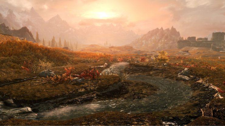 Skyrim Special Edition a 4K en la PlayStation 4 Pro