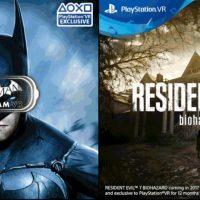 Batman y Resident Evil 7 serán exclusivos temporales en PlayStation VR