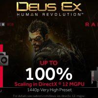AMD: 100% de ganancia en Deus Ex: Mankind Divided con Multi-GPU bajo Directx 12