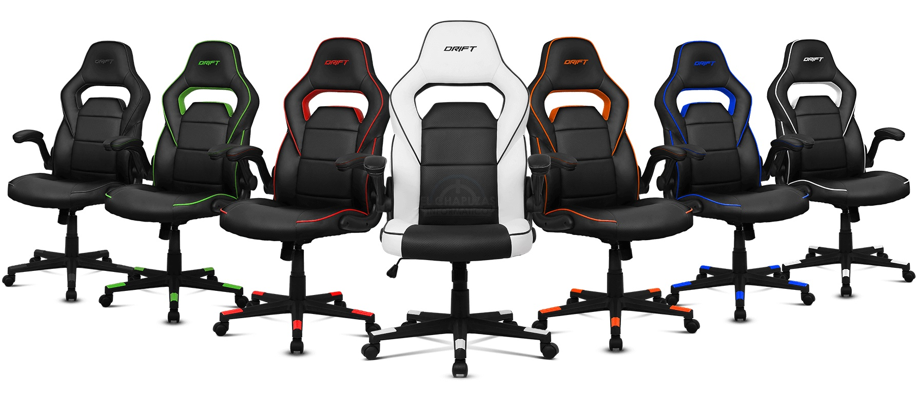 Drift dr75 silla gaming econ mica con acabado en polipiel for Silla gaming con altavoces