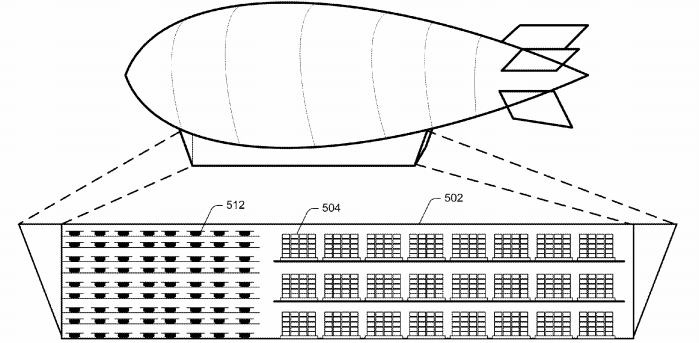 Amazon patenta una nave nodriza para mandar sus drones desde el aire