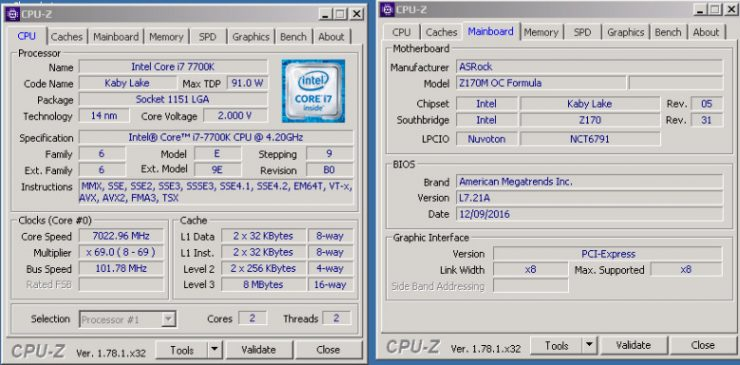 Core i7 7700K CPU Z overclock 7 GHz 740x365 0