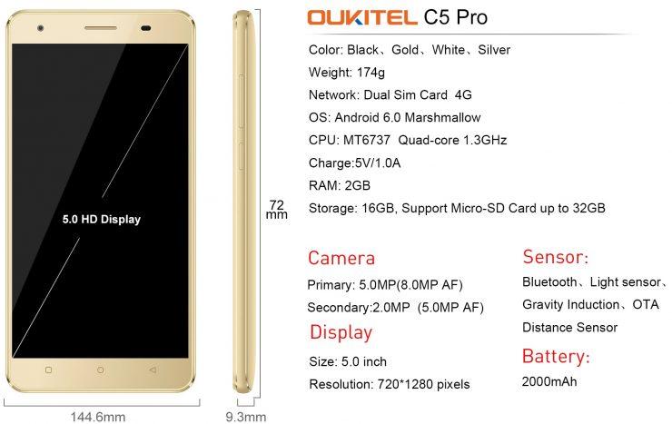 Oukitel C5 Pro 1 740x467 1