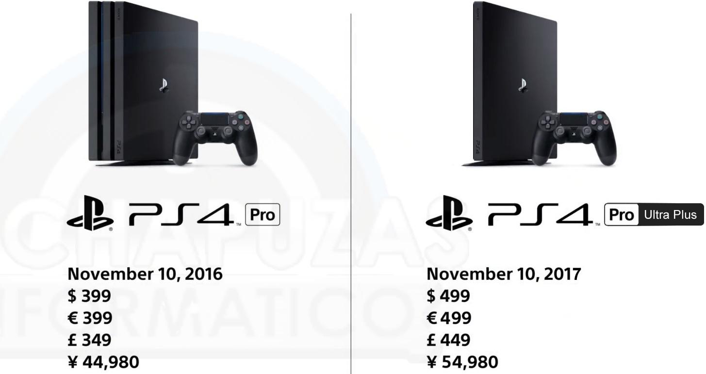 La PlayStation 4 Pro Ultra Plus llegará en el 2017 para plantar cara a Project Scorpio