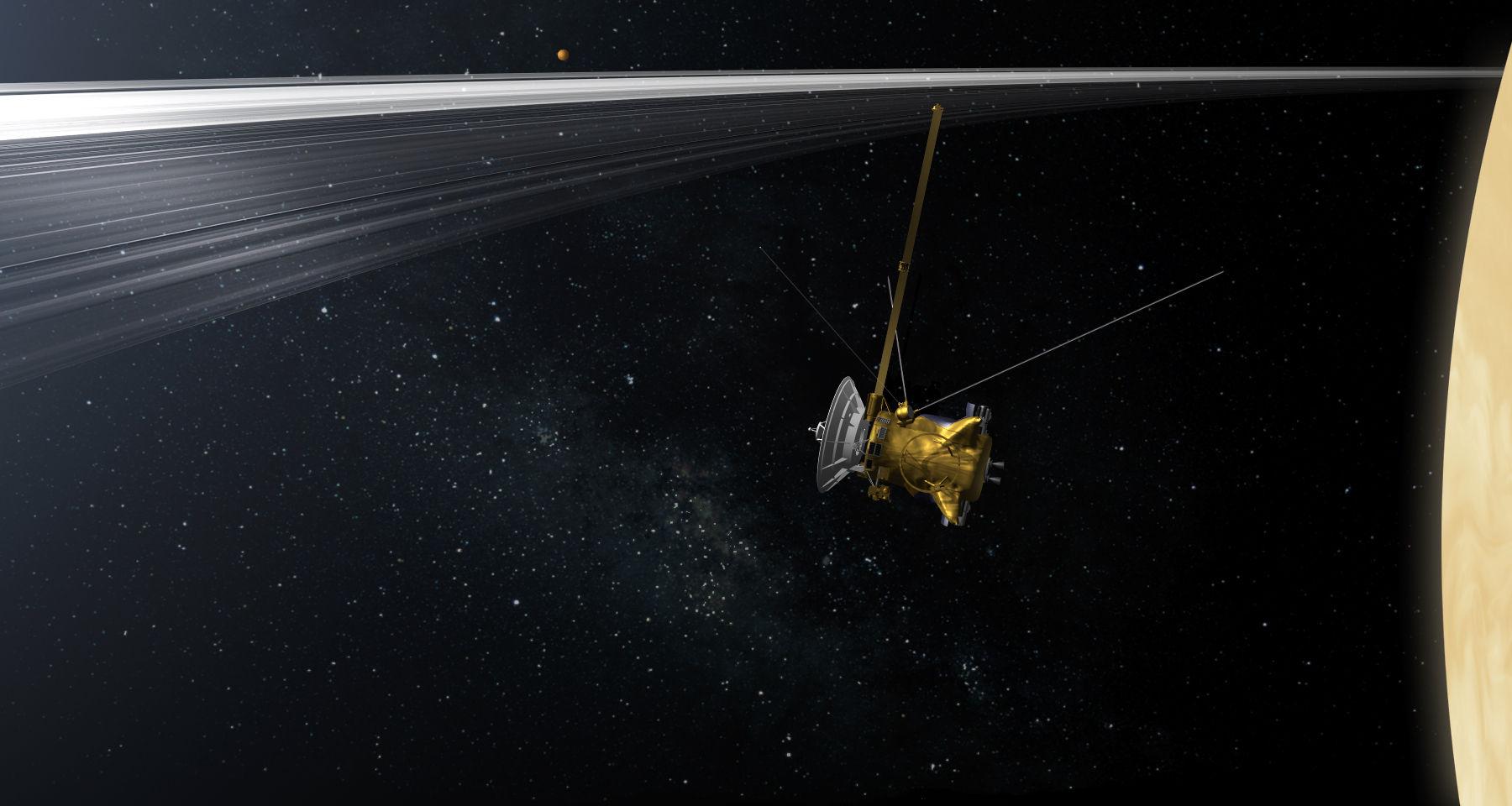 La sonda Cassini dará sus últimas cinco vueltas sobre Saturno antes de precipitarse