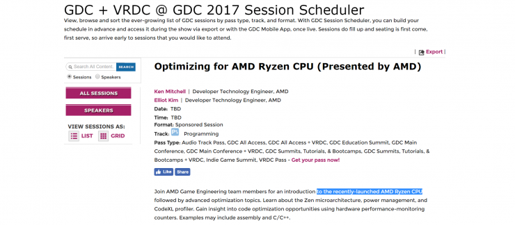 AMD Ryzen Game Developers Conference 2017 GDC 740x324 0
