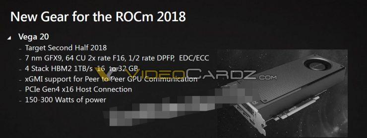 AMD VEGA 20 specifications 740x279 2