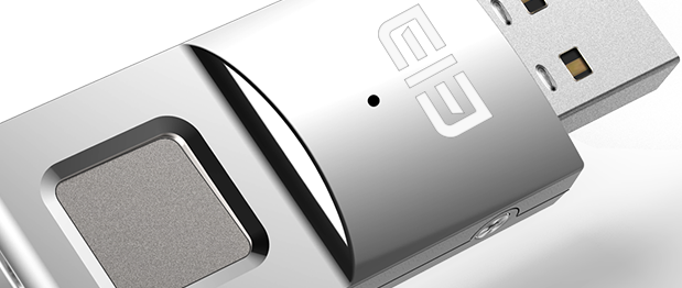 Elephone ELE Secret: Memoria USB de 64 GB con lector de huellas dactilares