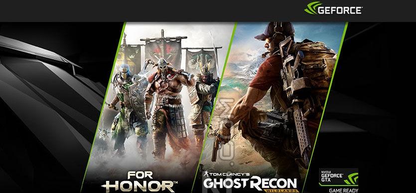 For Honor y Ghost Recon: Wildlands gratis con una GeForce GTX 1080/1070