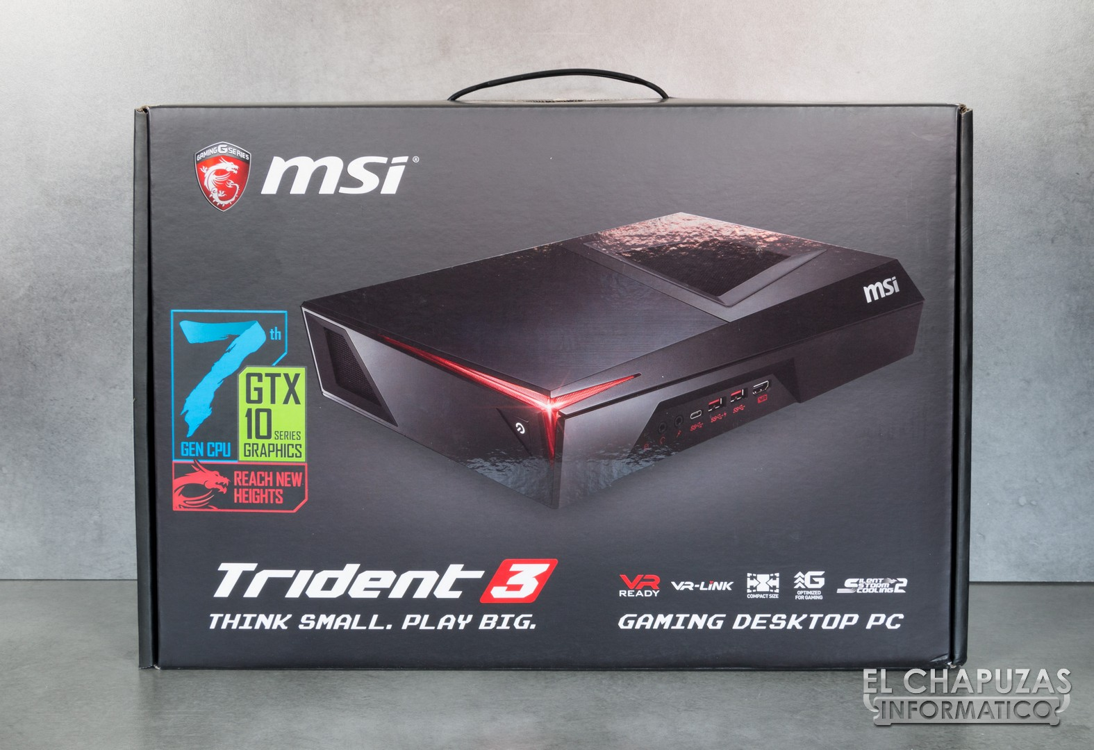 Review Msi Trident 3 (core I77700 + Gtx 1060) El
