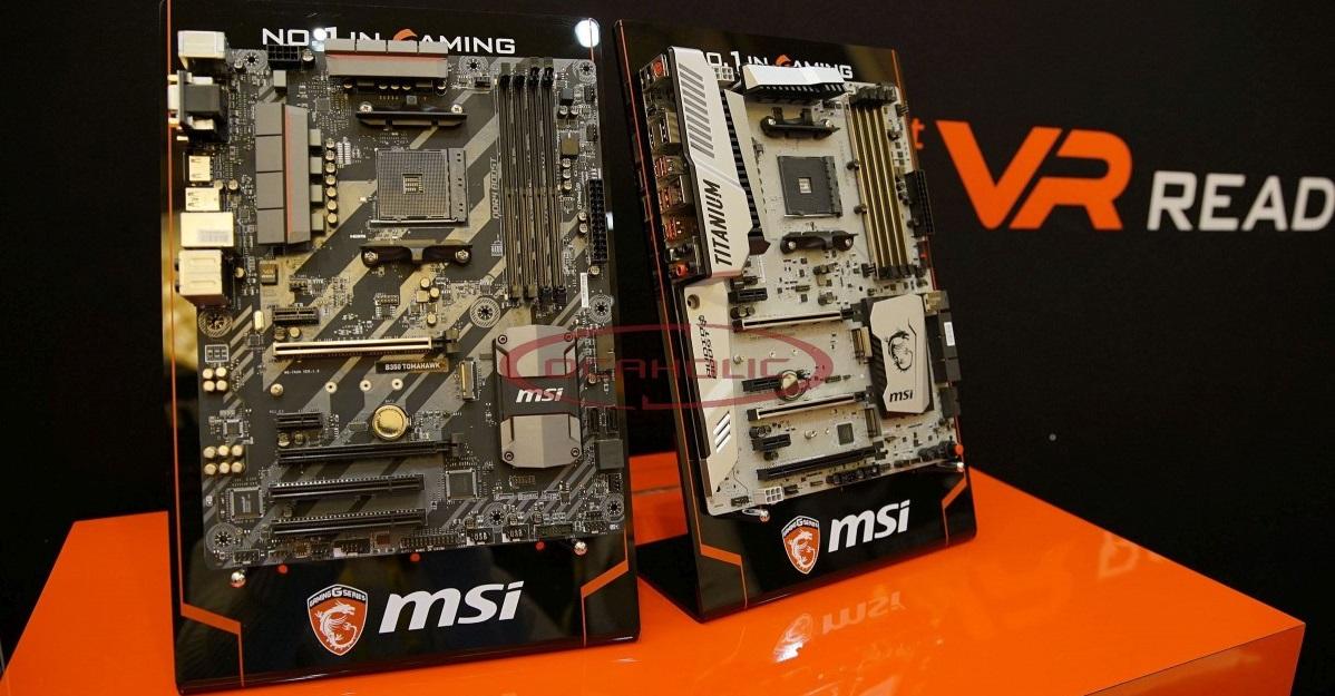 MSI X370 XPower Gaming Titanium y MSI B350 Tomahawk (AMD Ryzen)