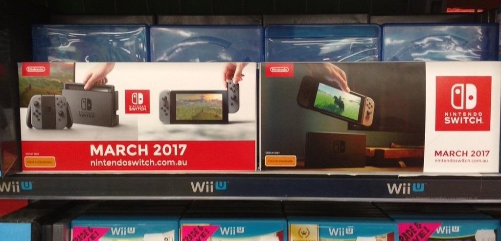 Las tiendas ya publicitan la Nintendo Switch para el mes de Marzo