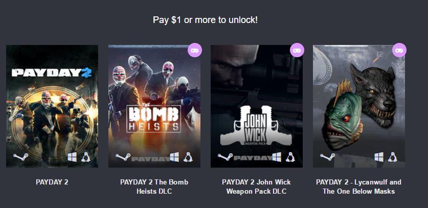 Humble Bundle: Payday 2 por sólo 1 euro para Steam (PC/Linux)