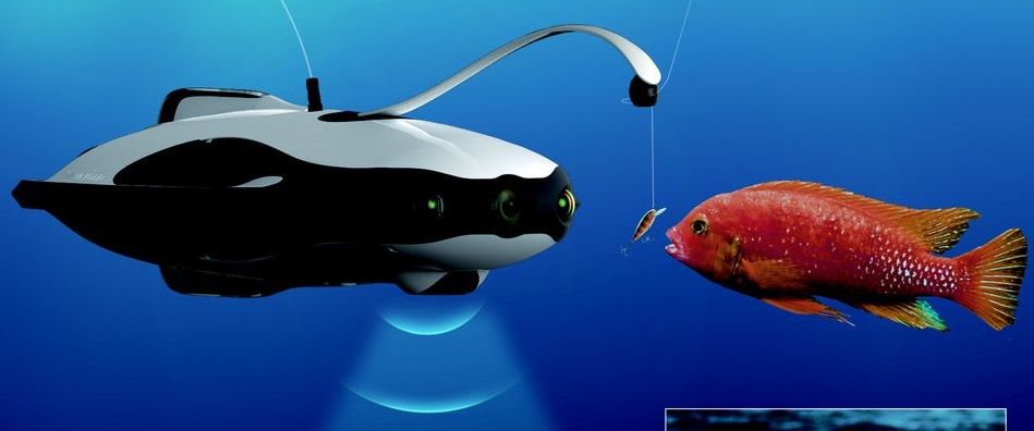 PowerRay: Dron marino con cámara 4K compatible con gafas VR