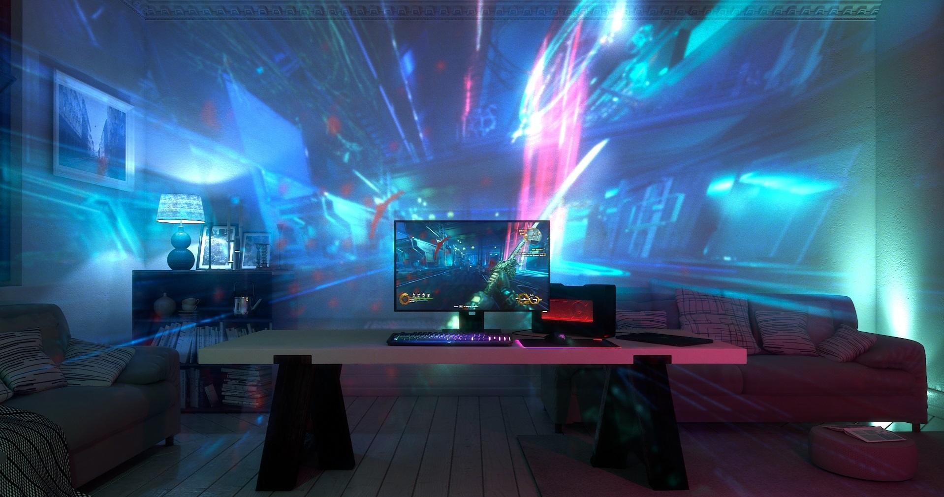 Project Ariana: Proyector con la tecnología Razer Chroma para gamers