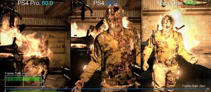Resident Evil 7 PlayStation 4 Pro vs PlayStation 4 vs Xbox One 740x322 1