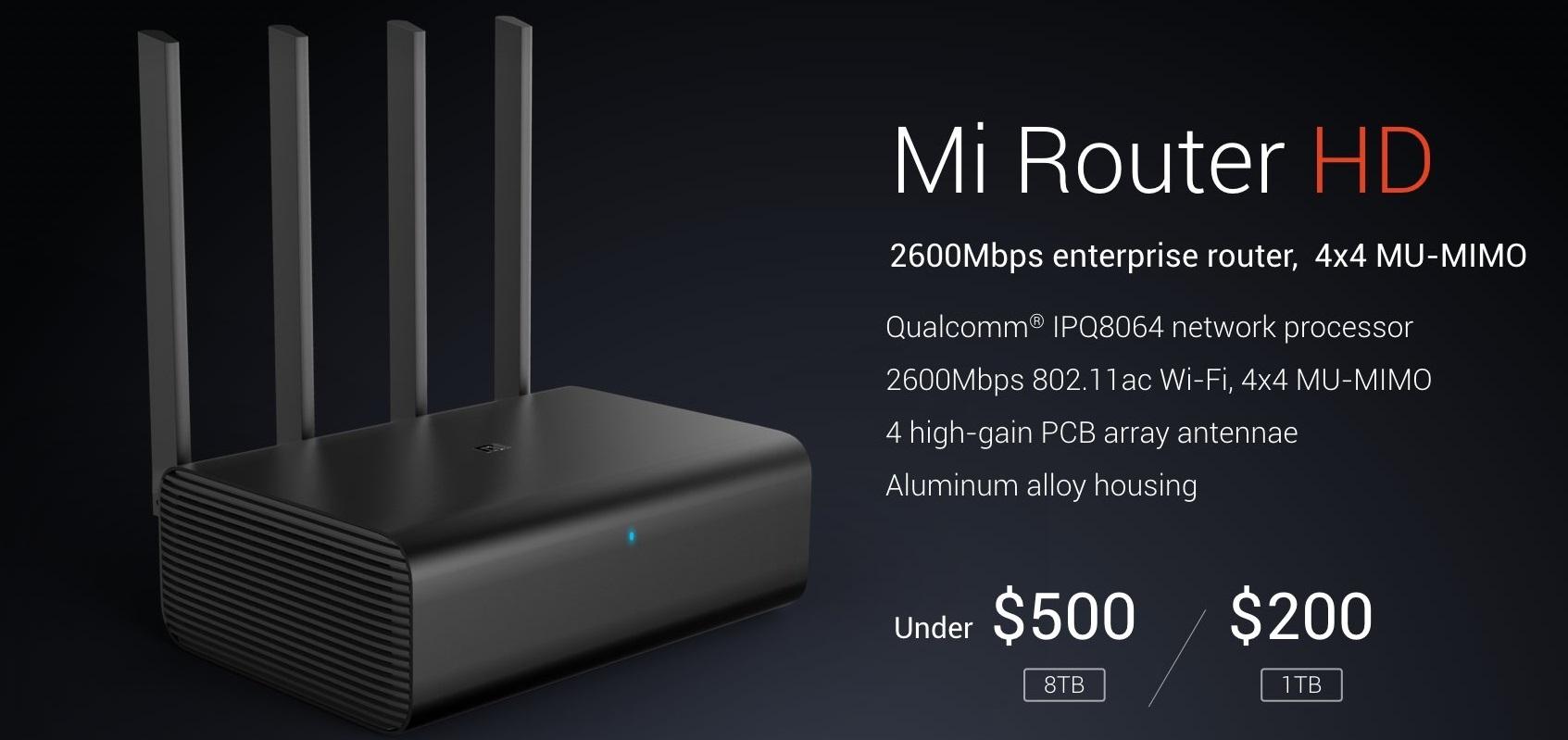 Xiaomi Mi Router HD: Router de aluminio con almacenamiento interno