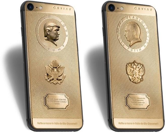 iPhone 7 caviar Vladimir Putin y Donald Trump 0