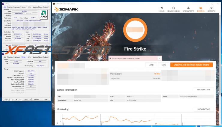 AMD Ryzen 7 1700X Fire Strike Physics 740x423 1