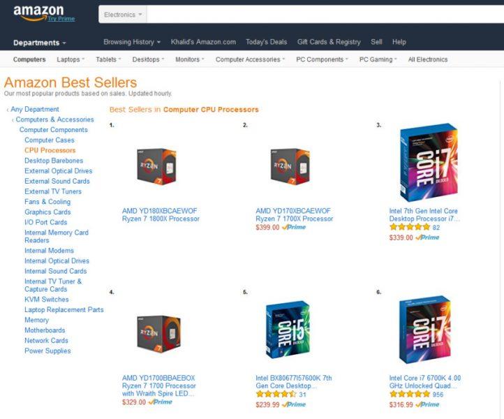 AMD Ryzen en Amazon 722x600 1