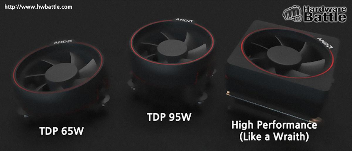 Filtrados los disipadores de AMD Ryzen, tendrán iluminación LED