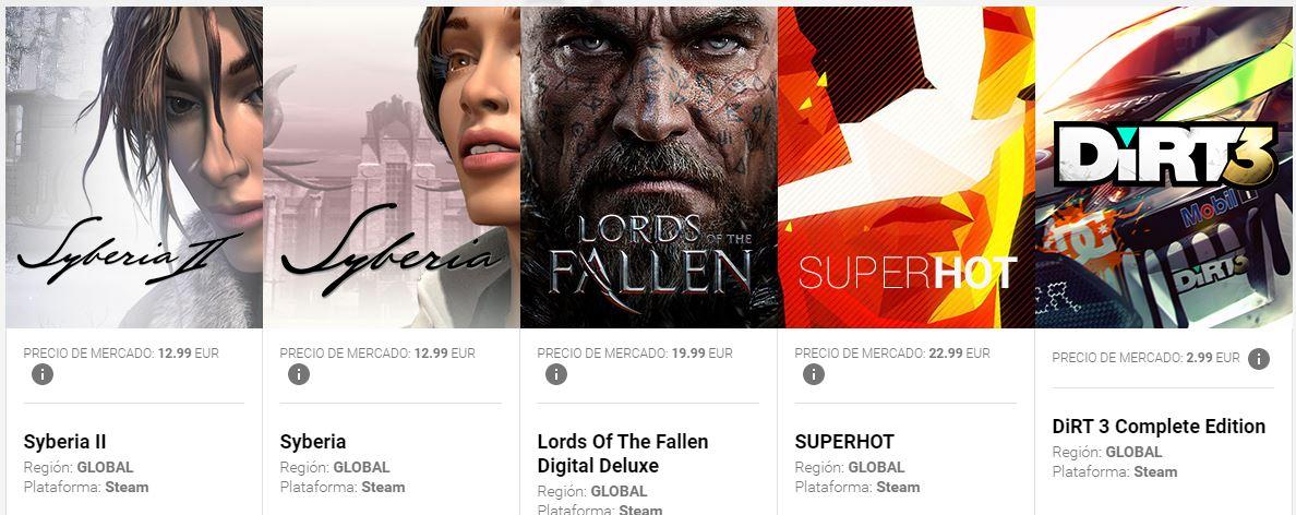G2A Deal: 5 Juegos de Steam valorados en 72€ por 2.50€ [Chollo]