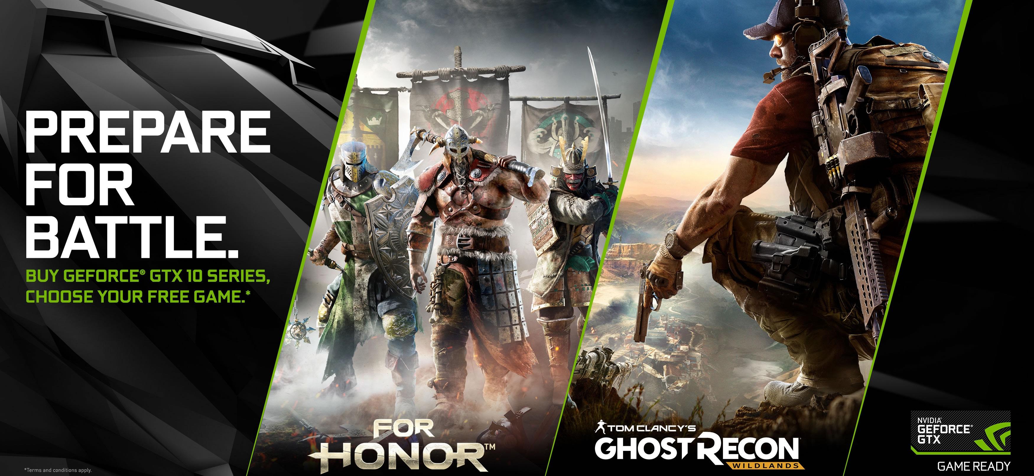 Nvidia anuncia su nuevo Game Bundle con la compra de una GeForce GTX 1080 o GTX 1070