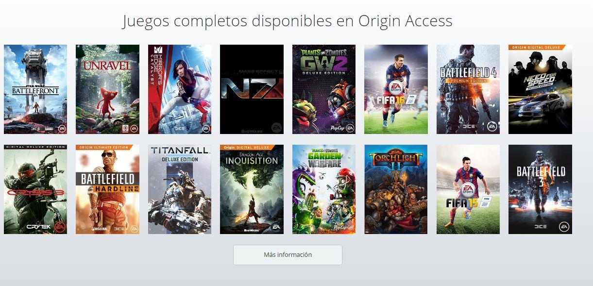 Prueba gratis durante 7 días los 60 juegos disponibles en Origin Access