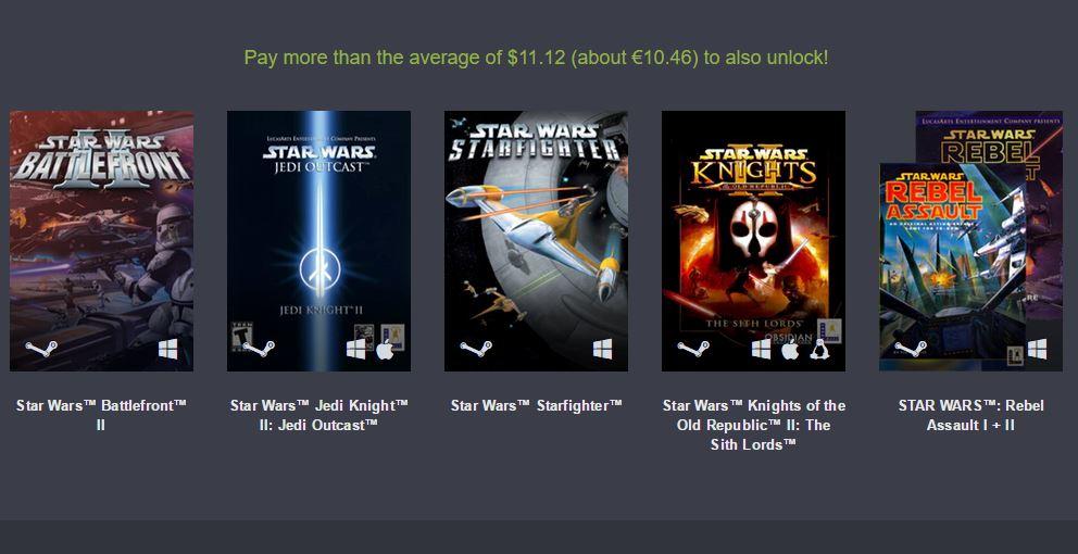 Humble Bundle: Saga Star Wars desde 1 euro