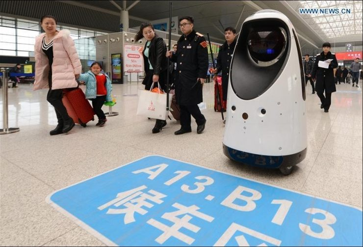 robot seguridad china estación zhengzhou 740x503 0