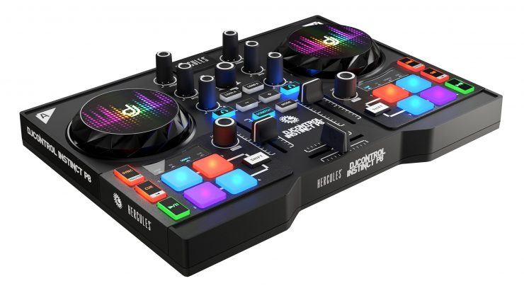 Hercules DJControl Instinct P8 Party Pack Oficial 740x414 1