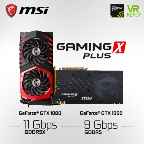 MSI GeForce GTX 1080 Gaming X Plus y MSI GeForce GTX 1060 Gaming X Plus 600x600 0