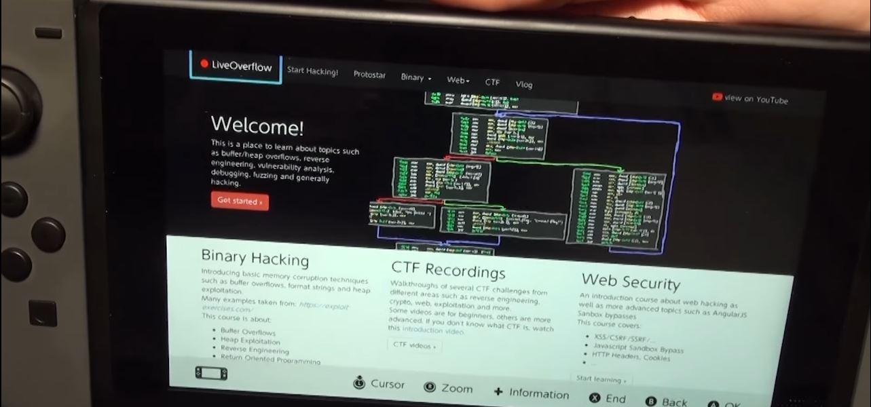 La Nintendo Switch ha sido hackeada por medio de un exploit Webkit