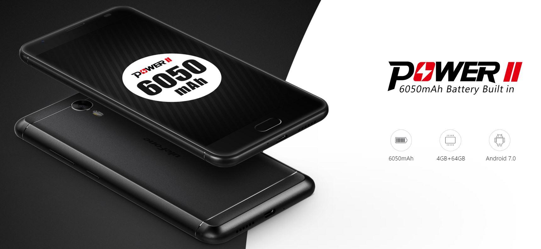 Ulefone Power 2: 5.5″, 4GB RAM, 64GB ROM y 6050 mAh