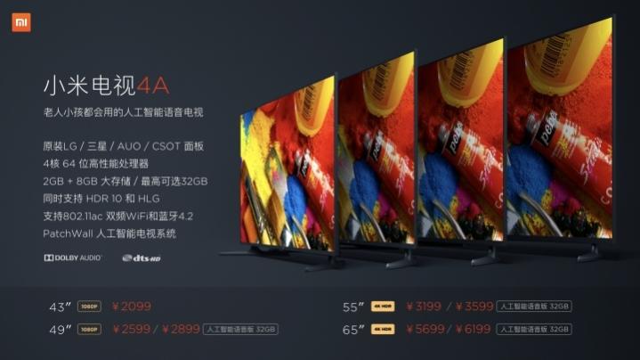 Xiaomi Mi TV 4A 3 2