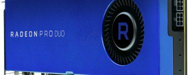 AMD Radeon Pro Duo anunciada, 2x RX 480 unidas a 32 GB de memoria GDDR5
