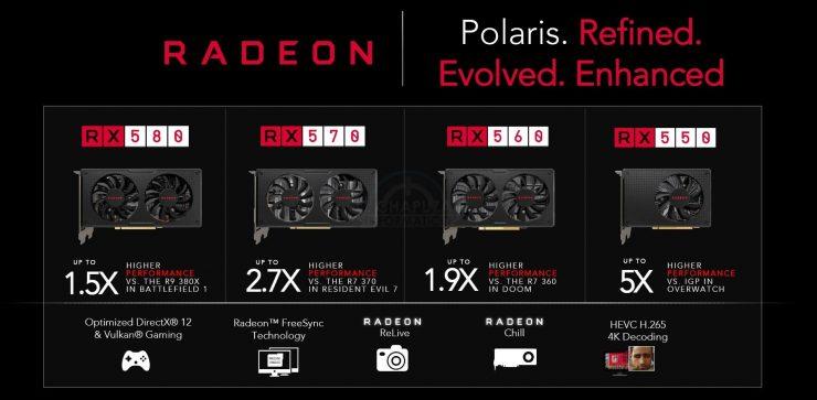 AMD Radeon RX 580 RX 570 RX 560 y RX 550 740x363 0