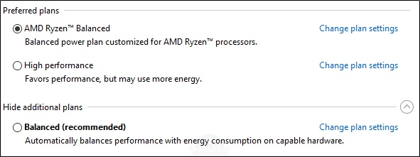AMD Ryzen Balanced 2 1