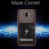 Maze Comet en camino, 5.5″ con batería de 6000 mAh y doble cámara