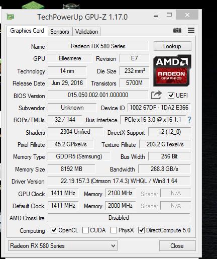 Radeon RX 480 mutada a Radeon RX 580 2 1