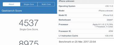 El iPhone 8 aparece por Geekbench destrozando a la competencia