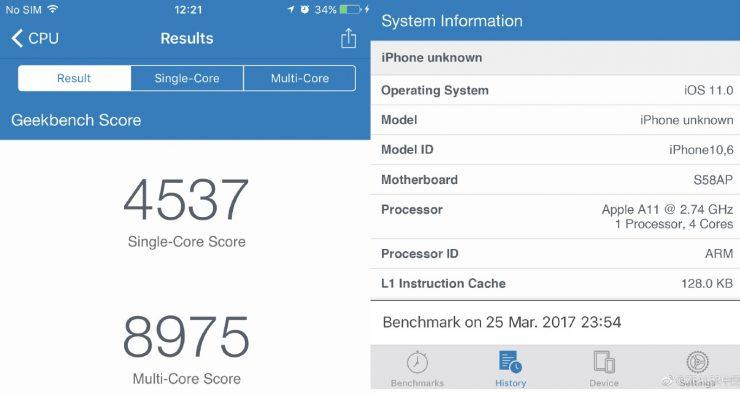 iPhone 8 Geekbench 740x394 0