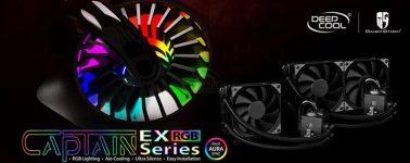 DeepCool lanza sus líquidas Captain EX RGB: Iluminación RGB y soporte AMD Ryzen