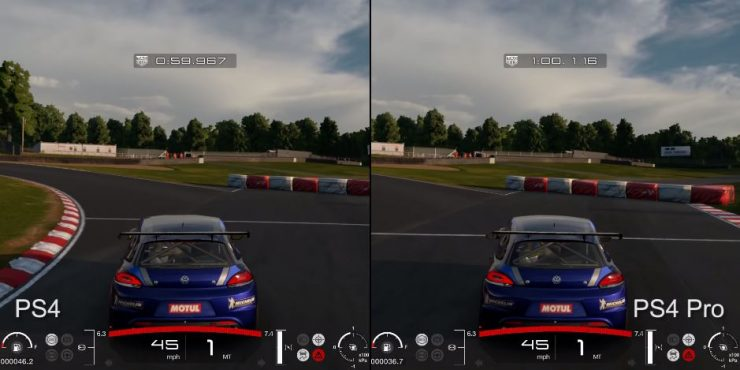 Gran Turismo Sport Beta PlayStation 4 vs PlayStation 4 Pro 740x370 0